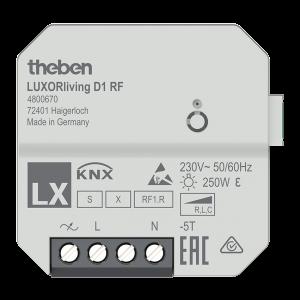 4800670 LUXORliving D1 RF - 1-way wireless flush-mounted dimming actuator