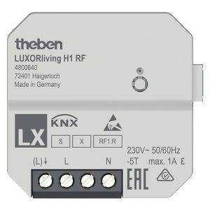 1-way flush-mounted heating actuator H1 RF